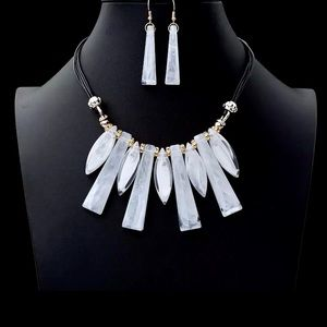 Geometric Statement Necklace &  Earrings Sets